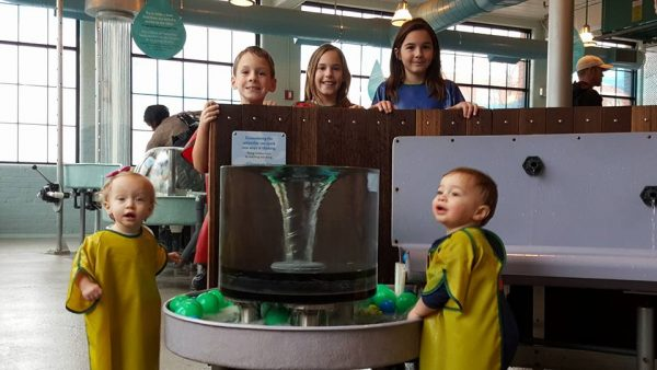 Group of kids at the Providence Children's Museum