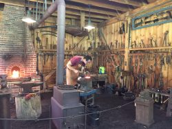 Blacksmith workshop at the South County Museum