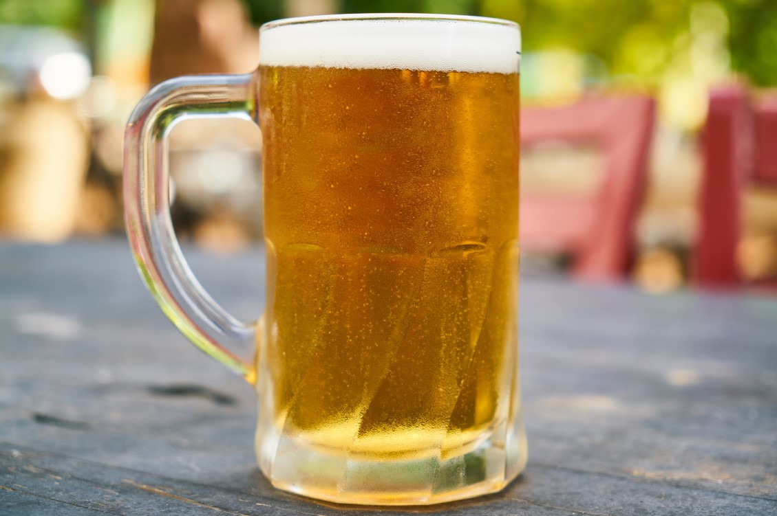 large glass of beer